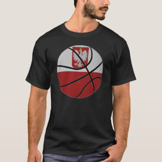 T-shirt de basket-ball de la Pologne