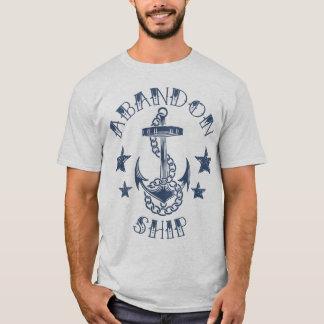 T-shirt de bateau d'abandon