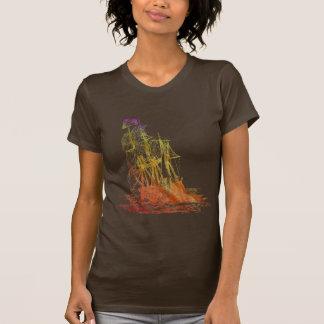 T-shirt de bateau de pirate de l'arc-en-ciel des