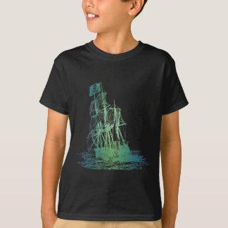 T-shirt de bateau de pirate d'enfants
