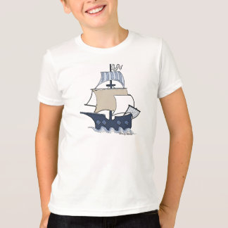 T-shirt de bateau de pirate des enfants