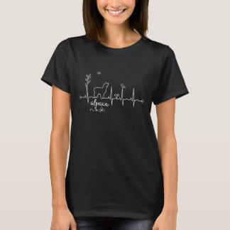 T-shirt de battement de coeur d'alpaga pour des