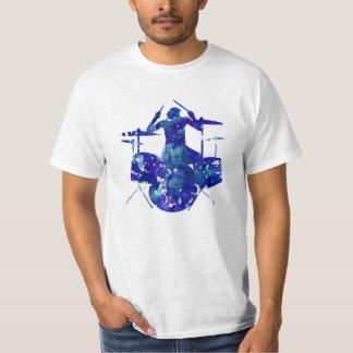 T-shirt de batteur de roche