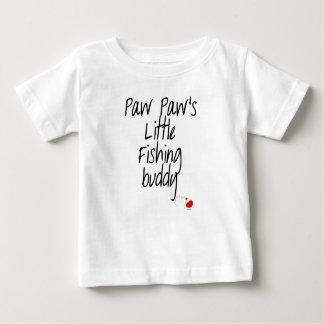 T-shirt de bébé d'ami de la pêche de la patte de