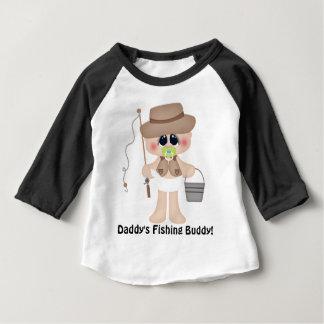 T-shirt de bébé d'ami de la pêche du papa