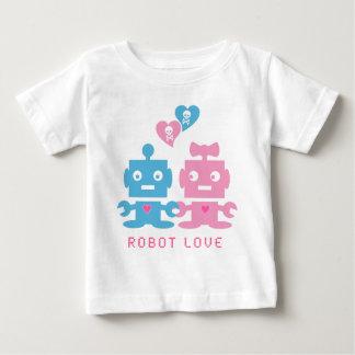 T-shirt de bébé d'amour de robot