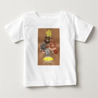 T-shirt de bébé d'arbre de Noël de Steampunk