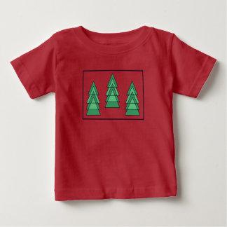T-shirt de bébé d'arbres de #christmas par dal