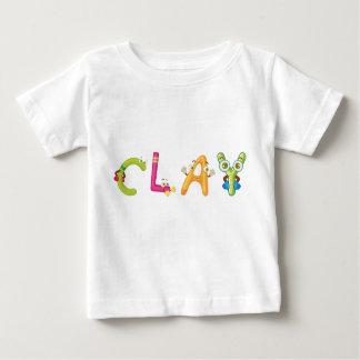 T-shirt de bébé d'argile