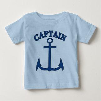 T-shirt de bébé de capitaine Blue Anchor de marin
