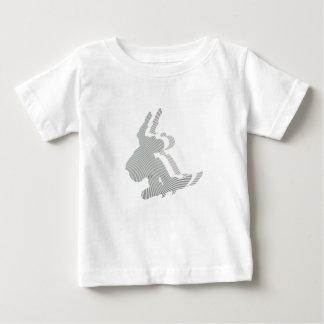 T-shirt de bébé de conception de logo de surf des
