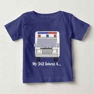 T-shirt de bébé de conducteur d'ambulance de papa