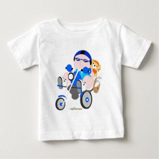 T-shirt de bébé de cycliste