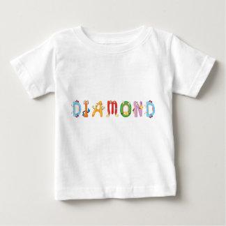 T-shirt de bébé de diamant