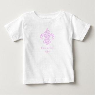 T-shirt de bébé™ de Fleur de Lis, blanc/rose