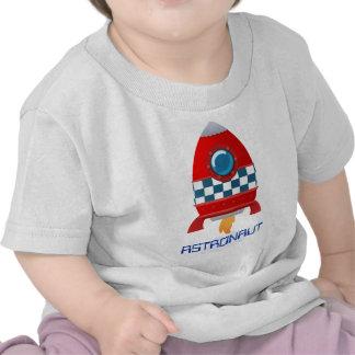 T-shirt de bébé de fusée d espace