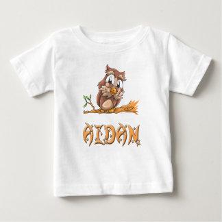 T-shirt de bébé de hibou d'Aidan