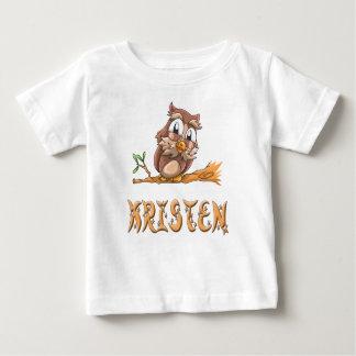 T-shirt de bébé de hibou de Kristen