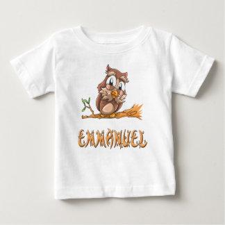 T-shirt de bébé de hibou d'Emmanuel