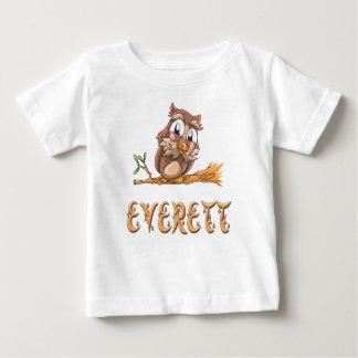 T-shirt de bébé de hibou d'Everett