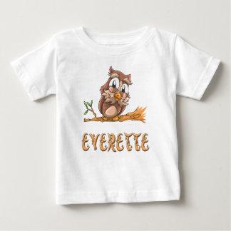 T-shirt de bébé de hibou d'Everette