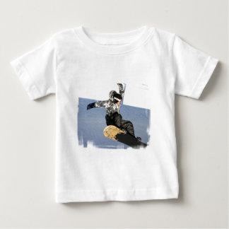 T-shirt de bébé de lancement de surf des neiges