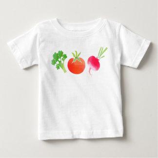 T-shirt de bébé de légume brocoli, de tomate et de