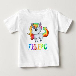 T-shirt de bébé de licorne de Filipo