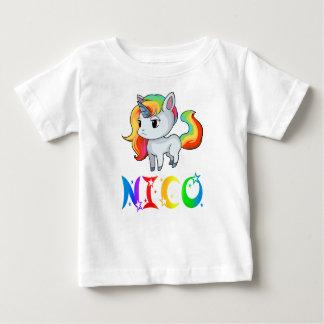 T-shirt de bébé de licorne de Nico