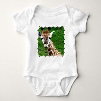 T-shirt de bébé de photo de girafe