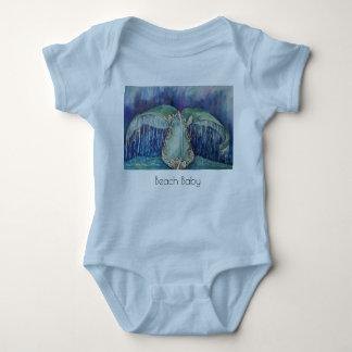 T-shirt de bébé de plage de queue de baleine