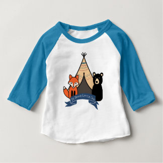T-shirt de bébé de région boisée