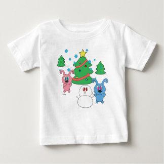 T-shirt de bébé de Rollys d'horaire d'hiver (Noël)