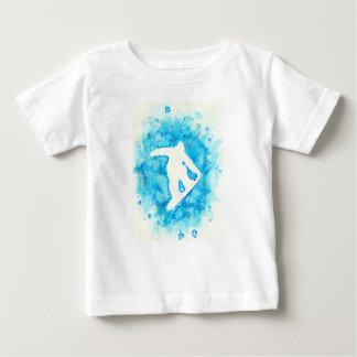 T-shirt de bébé de snowboarding
