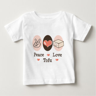 T-shirt de bébé de tofu d'amour de paix