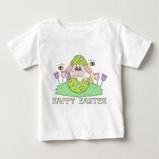 T-shirt de bébé de vacances de lapin de Pâques de