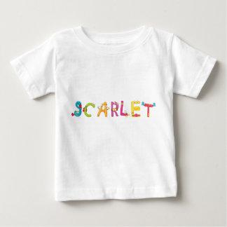 T-shirt de bébé d'écarlate