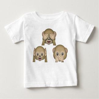 T-shirt de bébé d'Emoji de trois singes