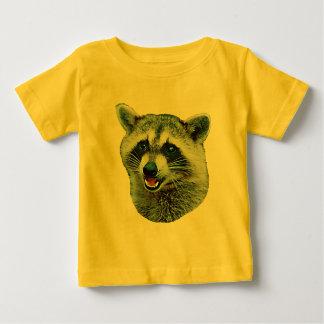 T-shirt de bébé d'image de raton laveur