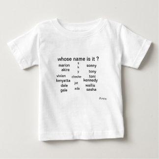 T-shirt de bébé, dont le nom est lui ? par