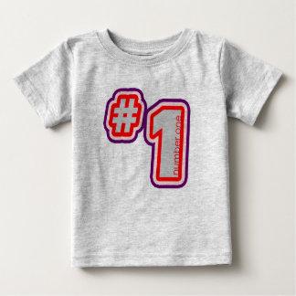 T-shirt de bébé du numéro un