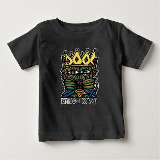 "T-shirt de bébé du ""Roi Kat"" BuddaKats"