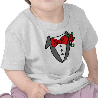 T-shirt de bébé enfant en bas âge de smoking