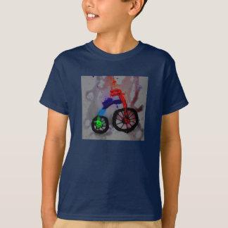 T-shirt de bicyclette de garçons