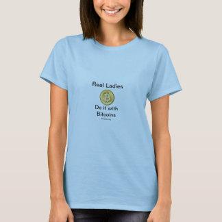 T-shirt de Bitcoin (vraies dames)