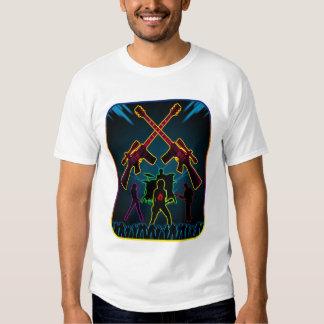 T-shirt de Blacklight de guitare d'assaut
