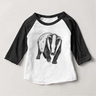 T-shirt de blaireau de bébé