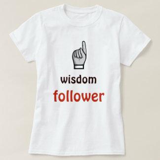 T-shirt de blanc de citation de disciple de