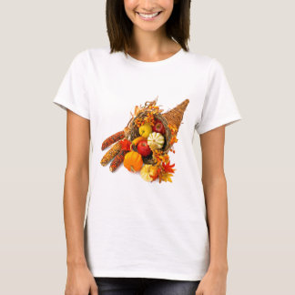 T-shirt de blanc de corne d'abondance de