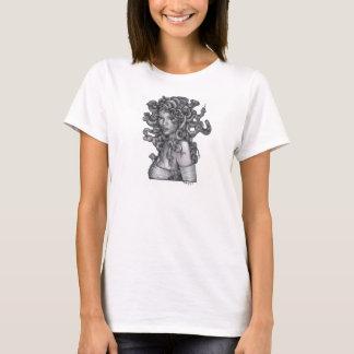 T-shirt de blanc de méduse